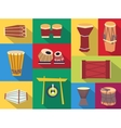 ethnic drums vector image