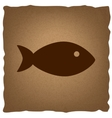 Fish sign Vintage effect vector image