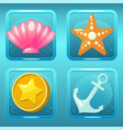 game icons for nautical match three game or app vector image