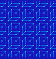 geometric shapes blue seamless pattern with flat vector image vector image