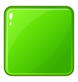 Green glossy button icon cartoon style vector image vector image