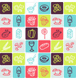 hand drawn icons set - food 1 vector image vector image