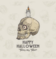 happy halloween background or card template vector image vector image