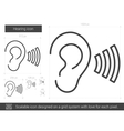 Hearing line icon vector image vector image