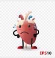 heart human internal organ realistic character vector image