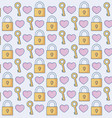 hearts and padlocks background vector image