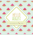 Hello august banner template included seamless