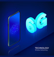high speed mobile network 6g isometric banner vector image vector image