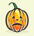 Holiday pumpkin jack lantern vector image vector image
