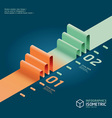 infographic isometric graph vector image