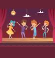 kids stage children performance karaoke sing boys vector image vector image
