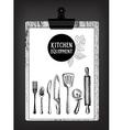 Kithcen equipment restaurant brochure vector image