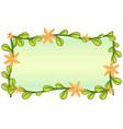 Leafy vector image vector image