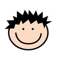 little boy cute character vector image