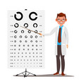 male ophthalmology sight eyesight vector image vector image