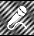 microphone sign icon hole vector image