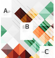minimalistic square shapes abstract background vector image vector image