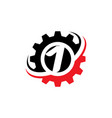 number 1 gear logo design template vector image vector image
