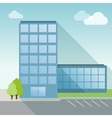 Office Building flat with long shadow vector image vector image