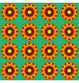 Orange flowers on green backdrop Colorful vector image
