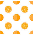 orange seamless pattern vegetarian fresh food vector image