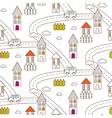 Outline village seamless pattern vector image vector image