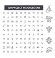 project management editable line icons 100 vector image vector image