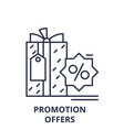 promotion offers line icon concept promotion vector image vector image