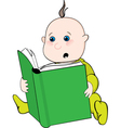 reading baby vector image