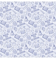 Seamless pattern with school elements on the vector image vector image