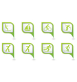 set of 8 sport green pointer vector image