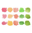 set of bright multicolored watercolor stains vector image