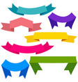 set of colorful ribbons and banners for web design vector image vector image