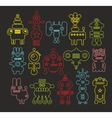 Set of doodle monsters vector image vector image