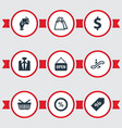 set of simple purchase icons vector image vector image