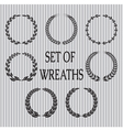 set of wreaths with laurel leaves and spik vector image vector image