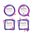set quote frame colorful quote frames vector image