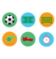 set soccer football icons vector image