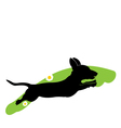 Silhouette of running dog vector image
