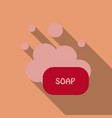 soap flat icon soap bubbles with shadow vector image