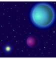 space planets and sun vector image vector image