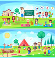 summer school and childrens camp vector image vector image