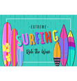 surfing poster set of surfboards 3 vector image vector image
