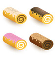 sweet roll set vector image vector image