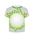 T Shirt Template- eco friendly design vector image vector image