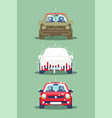 three stages car washing vector image vector image