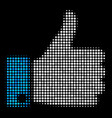 thumb up halftone icon vector image