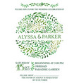 wedding invitationwatercolor green brunches vector image vector image