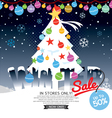 Winter Concept Up To 50 Percent Sale Template vector image