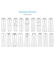 women pants collection sketch vector image vector image